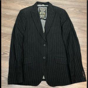 Scotch & Soda Black w/ White Pinstripe Blazer 40